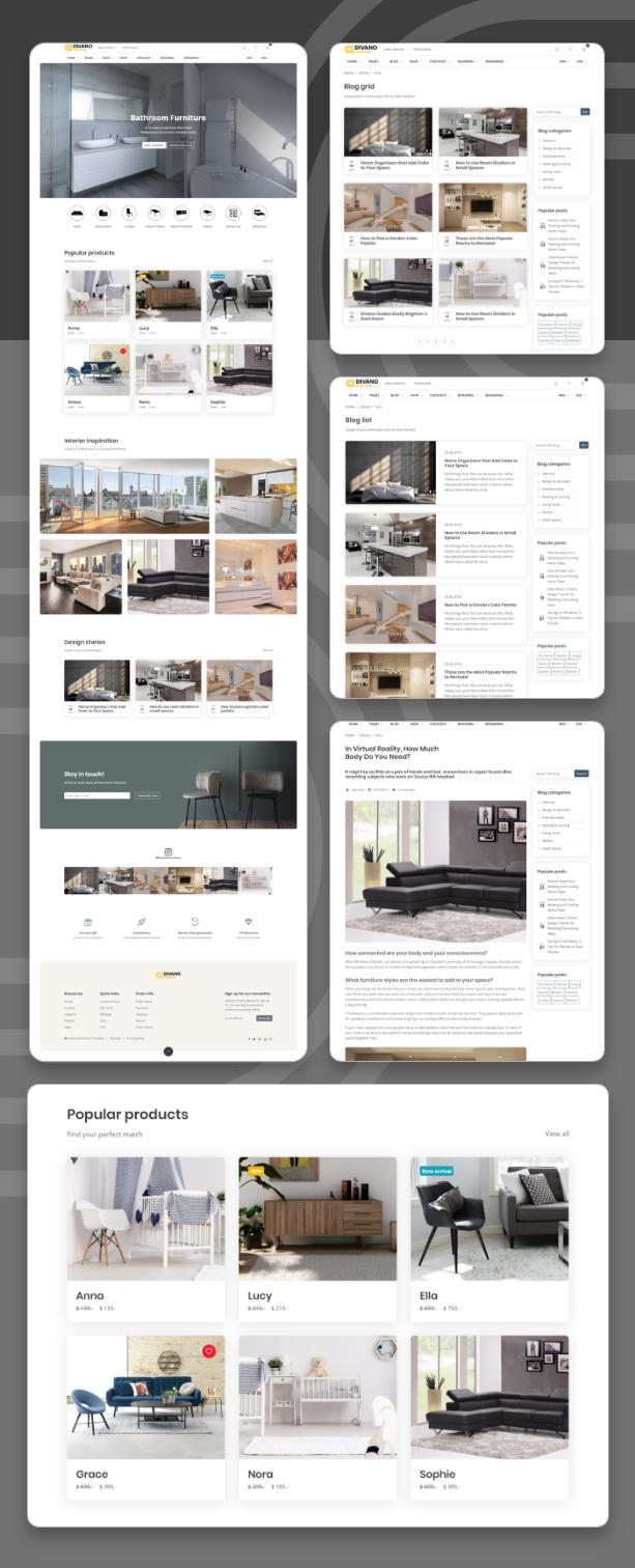 Divano - Furniture HTML Template - 3
